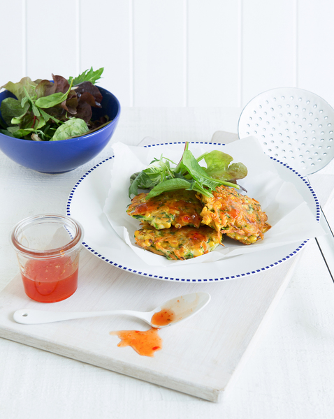 Vegie Corn Fritters with Sweet Chilli