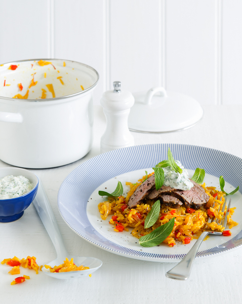 Lamb with Spiced Rice