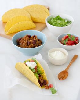 Vegetarian Chilli 'Beef' Tacos