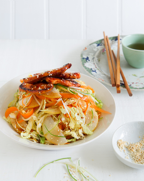 Kimchi Chicken & Pear Salad