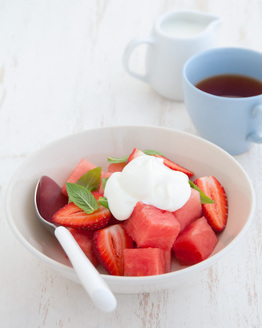 Watermelon, Strawberry & Rosewater Salad