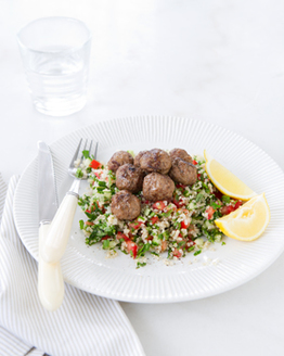 Spiced Lamb Meatballs with Tabouli