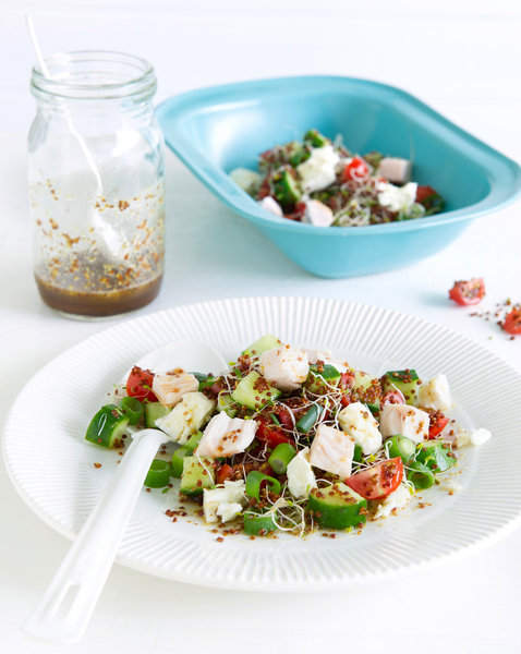 Smoked Chicken Salad with Tangy Maple Dressing