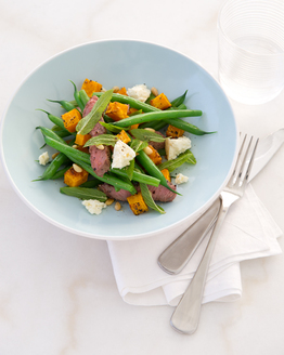 Grilled Lamb with Pumpkin & Pine Nuts