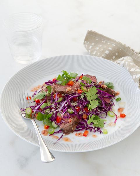 Kangaroo with Quinoa & Capsicum Salad