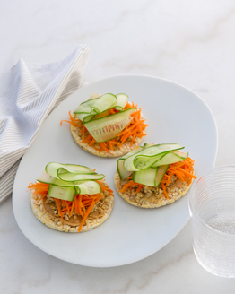 Satay Egg, Carrot & Cucumber Corn Thins