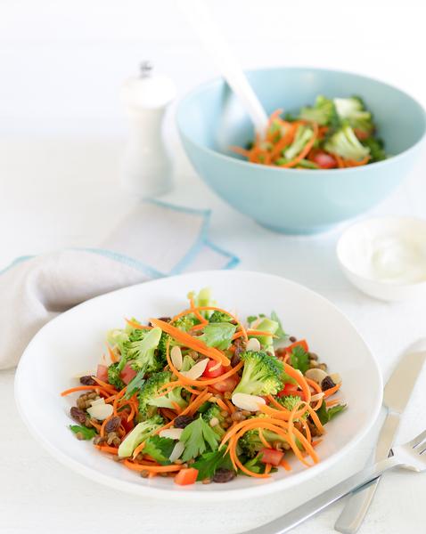 Raw Broccoli & Lentil Salad
