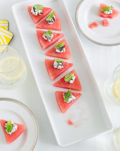 Chilli, Olive & Feta Watermelon Triangles
