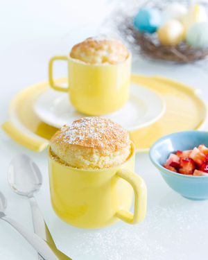 Coconut Orange Souffles with Strawberry
