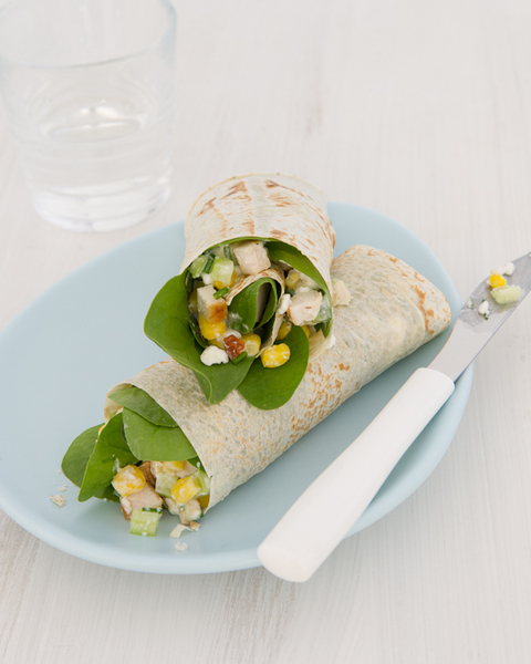 Astounding Chicken Wrap With Cottage Cheese Corn Chives Download Free Architecture Designs Scobabritishbridgeorg