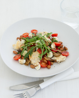 Borlotti Bean & Bocconcini Bread Salad