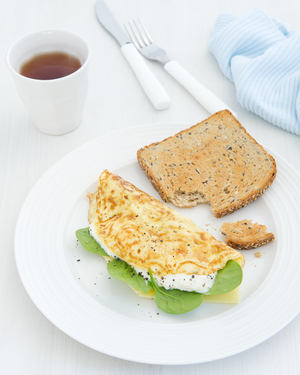 Spinach & Two-Cheese Omelette