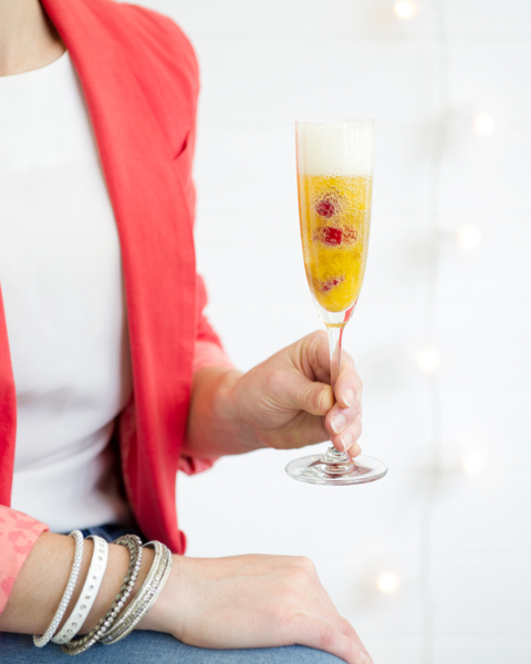 Bellini with Raspberries