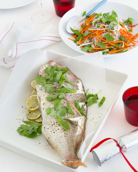 Baked Snapper with Vietnamese Noodle Salad