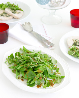 Sugar Snap, Snow Pea, Watercress & Sesame Salad