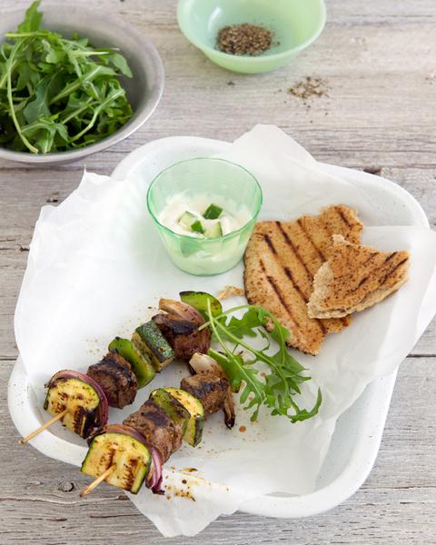 Middle Eastern BBQ Beef Kebabs