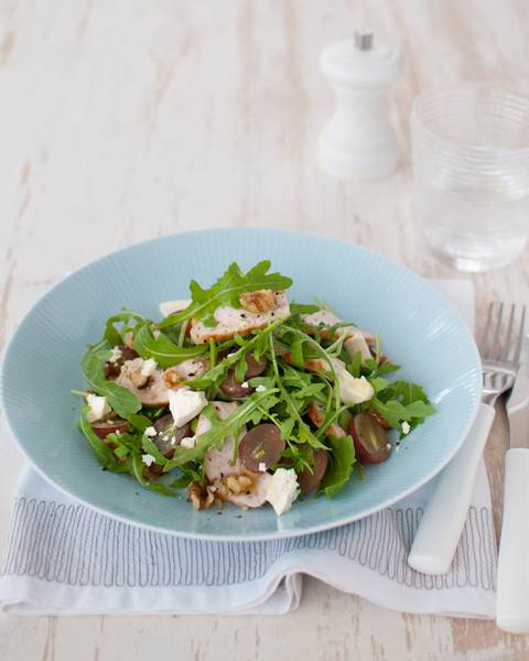 Chicken & Grape Salad with Feta & Walnuts