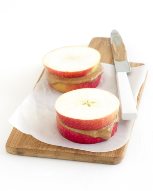 Almond Spread Apple Stack