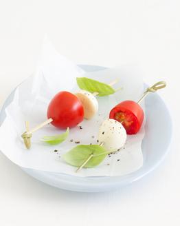Tomato, Bocconcini & Basil Mini Kebabs