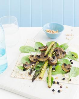 Roasted Mushroom, Spinach, Asparagus & Ricotta Wrap