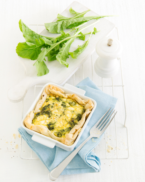 Spinach, Egg & Feta Pie