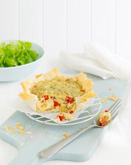 Corn, Capsicum & Parmesan Quiche