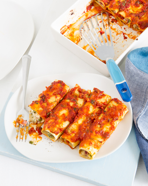 Ricotta, Mushroom & Roasted Capsicum Cannelloni