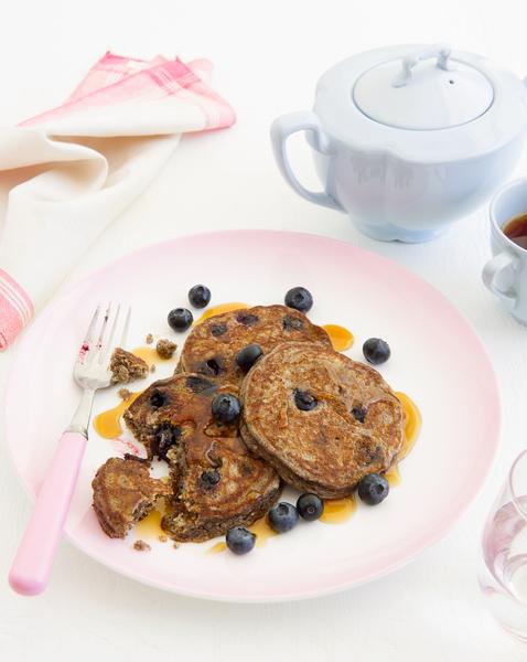 Hazelnut & Blueberry Buckwheat Pancakes