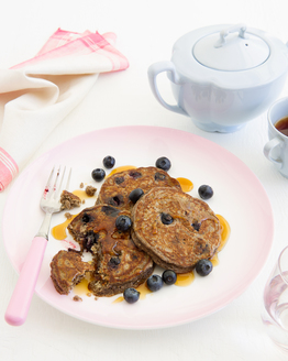 Hazelnut & Blueberry Buckwheat Pancakes