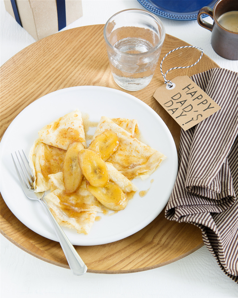 Wholemeal Crepes with Caramelised Bananas