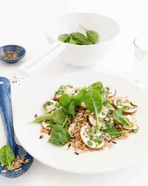 Mushroom & Rice Salad