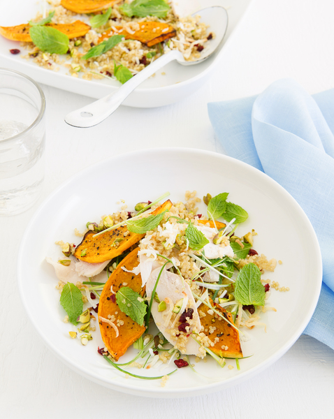 Coconut Quinoa with Poached Chicken