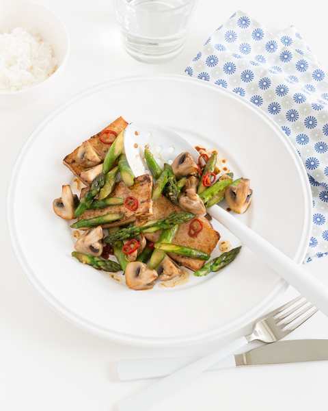 Wok Seared Tofu with Vegies