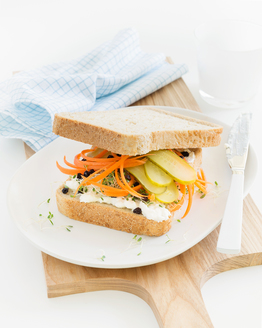 Cottage Cheese, Carrot & Gherkin Sandwich