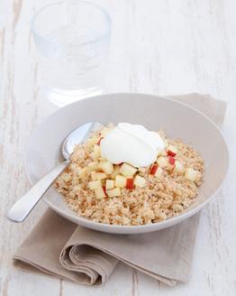 Apple Couscous with Cinnamon & Yoghurt