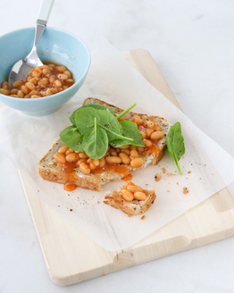 Baked Beans & Spinach on Toast
