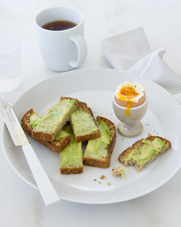 Boiled Egg with Avocado Toast