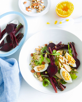 Beetroot Salad with Smoked Tofu & Beans