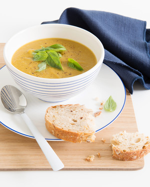 Asparagus & Sweet Potato Soup