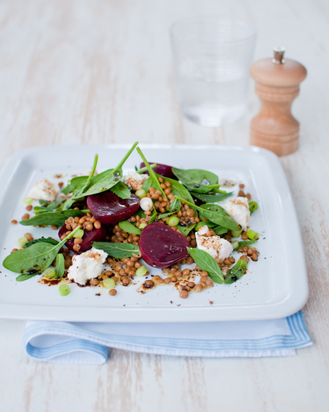 Lentil & Beetroot Salad with Ricotta