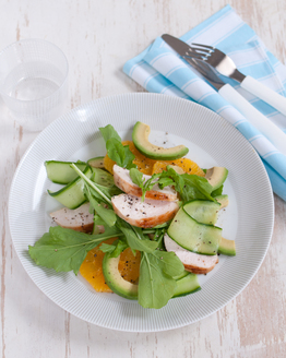 Chicken, Avocado & Orange Rocket Salad