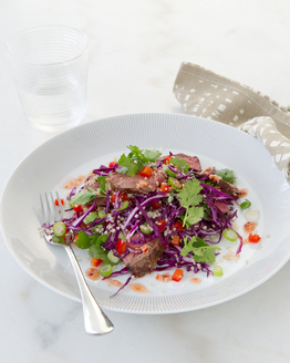 Kangaroo with Quinoa & Capsicum Salad