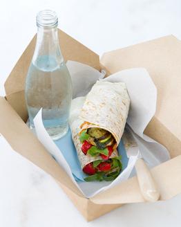 Mediterranean Vegie & Tofu Wrap