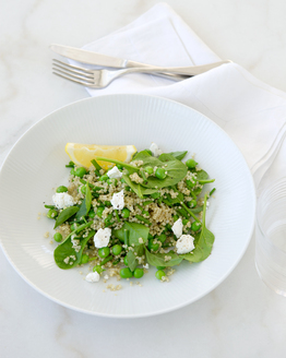 Quinoa, Pea & Goat's Cheese Salad
