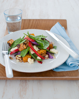 Roast Cinnamon Pumpkin & Feta Salad