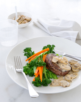 Steak with Creamy Mushroom Sauce