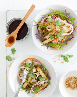Thai Tofu & Snow Pea Noodle Salad