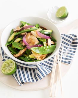 Tofu Stir-Fry with Zucchini & Mushroom