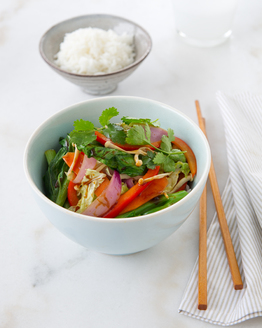 Vegetable Stir-Fry with Ginger & Hoisin Sauce