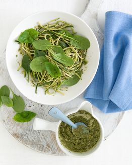 Zucchini 'Pasta' with Basil & Cashew Pesto